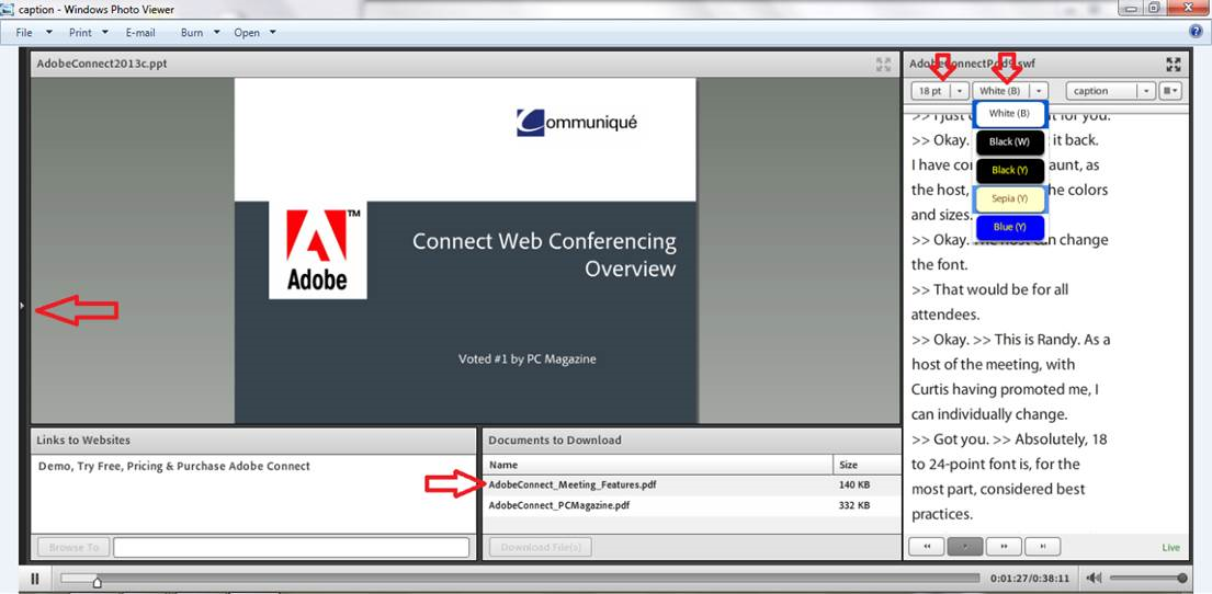 Adobe Connect Closed Captioning