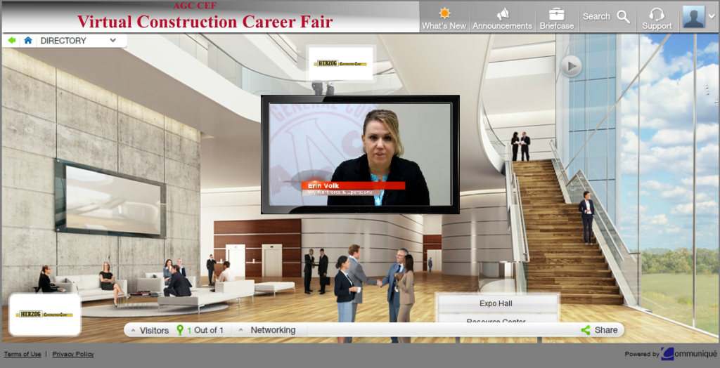 Virtual Career Fair welcome