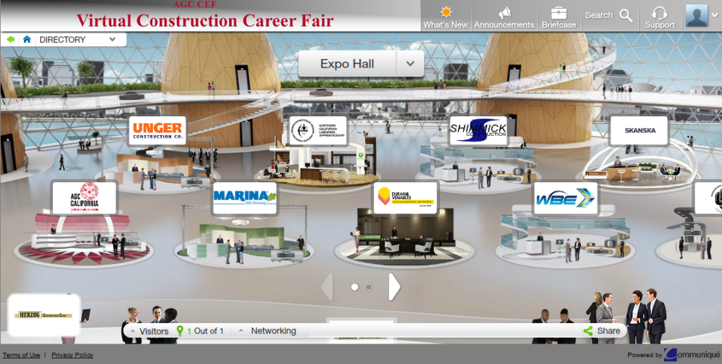 Virtual Career Fair - Exhibit Hall
